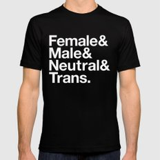 All Equal Genders Mens Fitted Tee Black SMALL