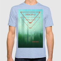 Descend Mens Fitted Tee Tri-Blue SMALL