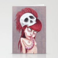 Blurry Red Vision Stationery Cards