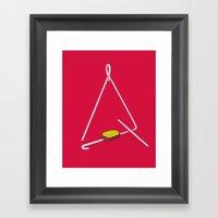 Triangle Hero Framed Art Print