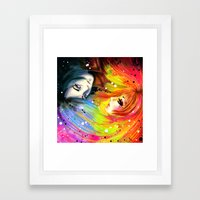 RAINBOW AND NIGHT Framed Art Print