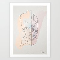 One Line Spiter Parkerman Art Print