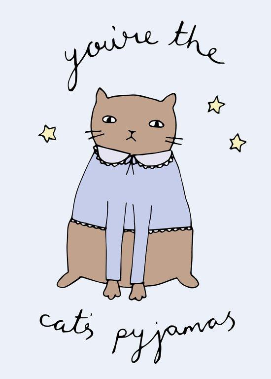Cats Pyjamas Art Print