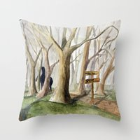 Middle Earth Throw Pillow
