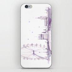 Watercolor landscape illustration_London Eye iPhone & iPod Skin