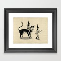 The Capture Of The Beast Framed Art Print