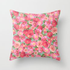 Flora Collage I Throw Pillow