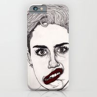 Miley With Red Lips iPhone 6 Slim Case