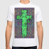 Slime X Cross Mens Fitted Tee Ash Grey SMALL