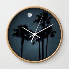 Coastal Moon Wall Clock