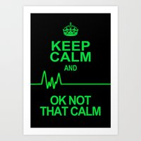 keep calm Art Prints featuring Keep Calm by Alice Gosling