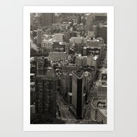 Old Downtown Art Print
