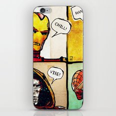 Masks: Iron Man, Deadpool, Dr. Doom, Spider Man iPhone & iPod Skin
