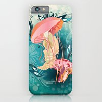 iPhone Cases featuring Jellyfish tangling by /CAM