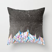 Crystal City at Night Throw Pillow