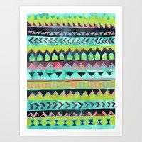 PATTERN {Tribal Stripe -… Art Print