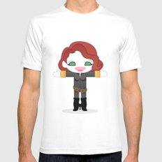 BLACK WIDOW ROBOTIC SMALL Mens Fitted Tee White