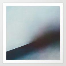 Dark Wave - Blue water painting Art Print