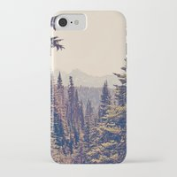 photography iPhone & iPod Cases featuring Mountains through the Trees by Kurt Rahn