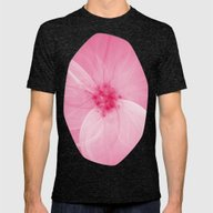 Pink Fairy Blossom Fract… Mens Fitted Tee Tri-Black SMALL