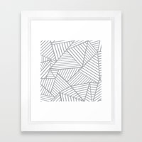 Abstraction Lines Zoom G… Framed Art Print