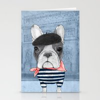 french Stationery Cards featuring French Bulldog. by Barruf