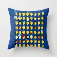 Springfield Follicles Throw Pillow