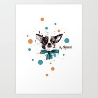 Chic Chihuahua Dog Art Print