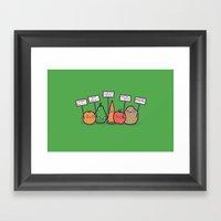 I hate vegans Framed Art Print
