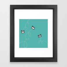 Spin a Message  Framed Art Print