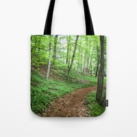 Into The Woods - Woodland Spring Path Tote Bag