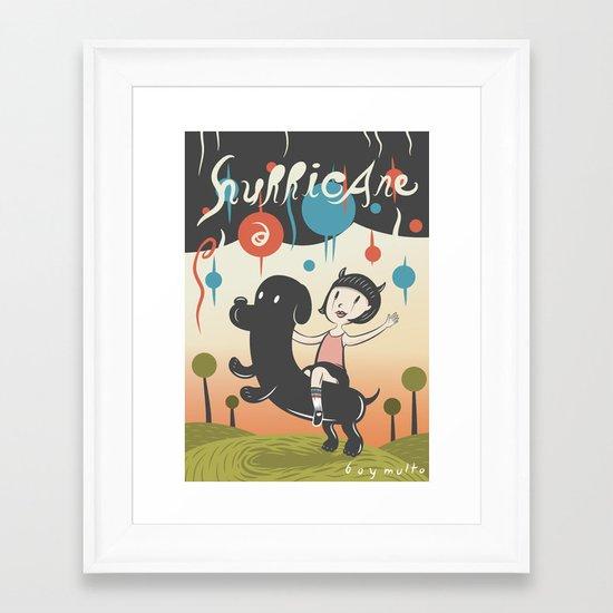 Hurricane! Framed Art Print