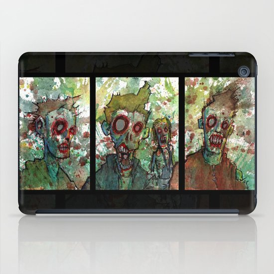 zombie triptych iPad Case