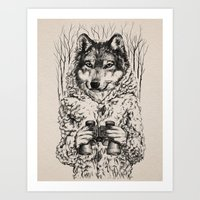 A Wolf In Sheep's Clothi… Art Print