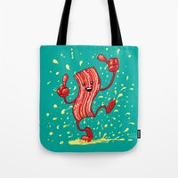 Dancing Bacon! Tote Bag
