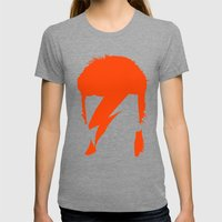 BOWIE Womens Fitted Tee Tri-Grey SMALL