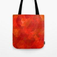 Orange Flames Tote Bag
