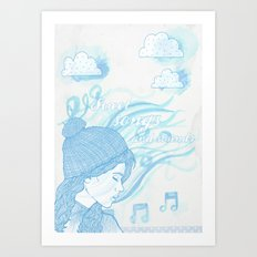 Winter sounds Art Print