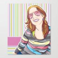 She smiles Canvas Print