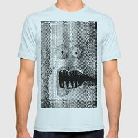 Copy Monster Mens Fitted Tee Light Blue SMALL