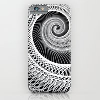 Black And White Skeletal Shell  iPhone 6 Slim Case
