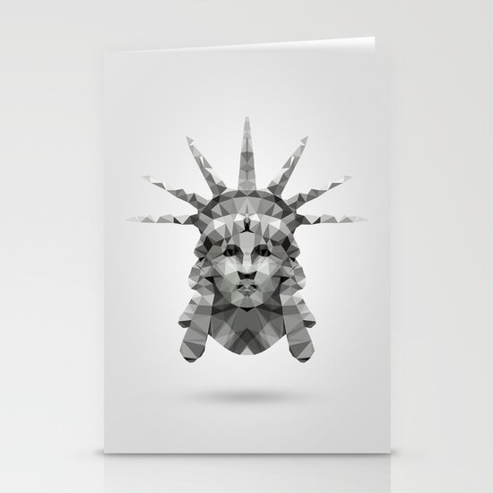 Polygon Heroes - Liberty Stationery Card