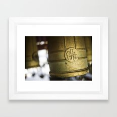Ceremonial Bells, Japan  Framed Art Print