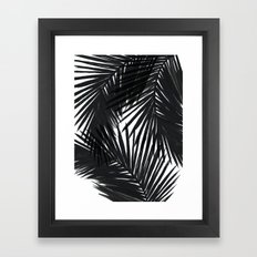 Palms Black Framed Art Print