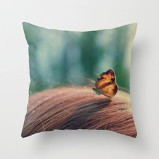 butterflyyyy Throw Pillow