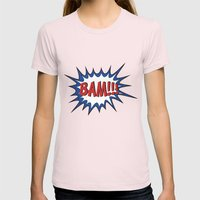 BAM Womens Fitted Tee Light Pink SMALL