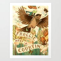 Froggie Went A-Courtin' Art Print