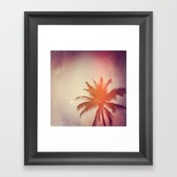 Palm & Moon Lanikai Framed Art Print