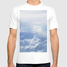 Clouds Mens Fitted Tee White SMALL
