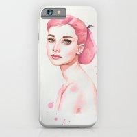 audrey hepburn iPhone & iPod Cases featuring Audrey Hepburn by Black Fury